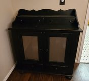 Black Solid Wood Dining Hutch Buffet Dresser Storage Farmhouse Rustic Country China Cabinet in Kingwood, Texas