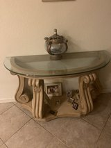 Coffee table set of 3 Round + half moon decorating table. in Travis AFB, California
