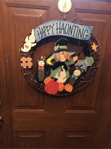 Halloween wreath in St. Charles, Illinois