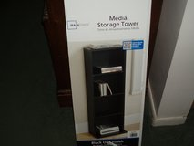 Mainstays Media Storage Tower - Black Oak Finish in Batavia, Illinois
