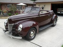 1940 Ford Deluxe Convertible,, in Pasadena, Texas