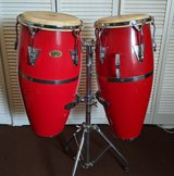 Congas - Two drum set with SS stand in Alamogordo, New Mexico