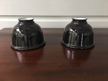 2 Petite Black Metal Industrial Dome Shades for Wall Sconce from Rejuvenation in Chicago, Illinois