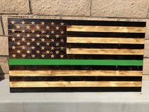 Handmade Wooden American Flags in Camp Pendleton, California