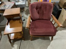 Heywood Wakefield Chair and end table in Batavia, Illinois