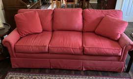 Salmon (Coral) Colored Couch For Sale Good Condition! Comfortable! in Beaufort, South Carolina