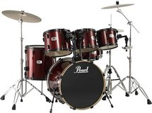 Pearl EX Export Series 6 Piece Drum Set with 22 Bass wine Red w Black Hardware in Okinawa, Japan
