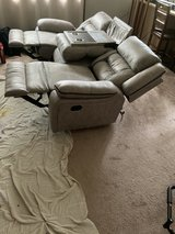 Grey Recliner Movie Theatre style Sofa Couch in Camp Lejeune, North Carolina