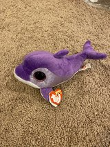 Ty Purple Dolphin Beanie Boo in Aurora, Illinois