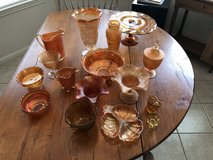 Mixed Amber glass group in Cleveland, Texas