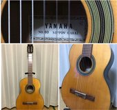 1960s Vintage Classical Yamaha Acoustic Guitar in Okinawa, Japan