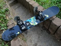 snowboard with bindings 138cm  good condition in Ramstein, Germany