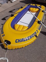9 foot long inflatable boat with wood floor in Alamogordo, New Mexico