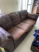 Brown Leather Couch in Okinawa, Japan