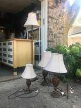 Set of 4 Lamps - 1 Floor lamp, 2 Table lamps, 1 Desk lamp in Naperville, Illinois