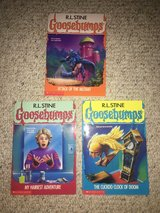Like new! 3 Books in Goosebumps Series - Books 25, 26 and 28 in Bolingbrook, Illinois