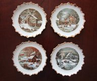4 Currier & Ives Decorative Plates in Katy, Texas