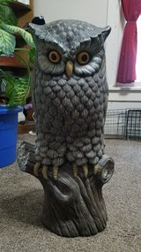 "27"" tall ceramic Owl made from a Glenview mold in Fort Riley, Kansas"