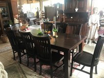 solid wood dining room set with 8 chairs in Spangdahlem, Germany