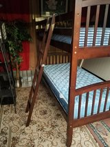 complete solid wood twin /twin bunk bed with mattress set in Clarksville, Tennessee