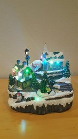 220 Volt Color Changing LED Light Up Christmas Village Scene in Ramstein, Germany