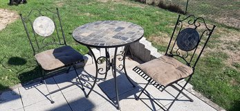4pc Outdoor Bistro Set (1 table, 2 chairs, 1 bread rack) in Ramstein, Germany