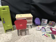 American Girl school set locker, desk, backpack, accessories in Chicago, Illinois