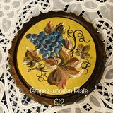 Hand-painted Wooden plate in Ramstein, Germany