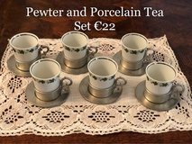 Pewter & Porcelain Cups in Ramstein, Germany