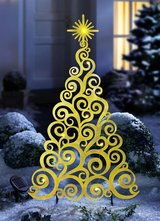 Large Outdoor Solar LED Tree in Gold 92 cm in Ramstein, Germany
