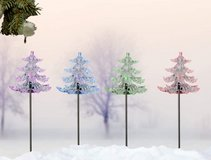 Set of 4 Solar LED Color Changing Lights the height 87 cm in Ramstein, Germany