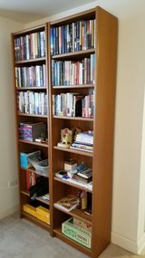 Solid Wood Bookcases (Pair) in St. Charles, Illinois