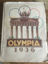 Olympic games 1936 antique Sticker Collection Historic Jesse Owens in Ramstein, Germany