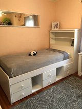 Girls Bed with Lighted Hutch and Underbed Storage in West Orange, New Jersey