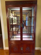 Rosewood China Cabinet w/Lights in The Woodlands, Texas