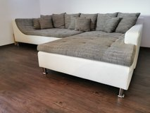 L-shaped Couch | 320x220 cm | white & grey/white in Ramstein, Germany