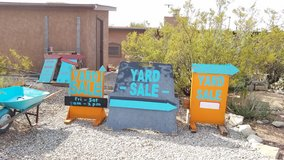 Yard Sale signs in Alamogordo, New Mexico