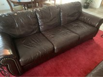 Leather Couch FOR SALE! in Ramstein, Germany