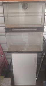 2 Fish Tanks and Small Cabinet in Alamogordo, New Mexico