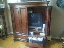 Solid Wood Entertainment Center in Bartlett, Illinois