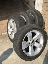 """Full Set - 18"""" Stock Challenger Wheels + Used Michelin Tires in Travis AFB, California"""