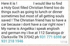 Looking for Friend in Fort Campbell, Kentucky