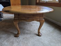 Coffee table, Queen Anne style with fold-down sides in St. Charles, Illinois