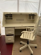 White desk + office chair - TENT SALE in Ramstein, Germany