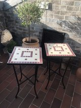 Mosaic tables in Ramstein, Germany