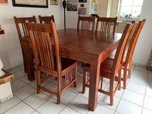 solid dining room table seats 8 in Ramstein, Germany