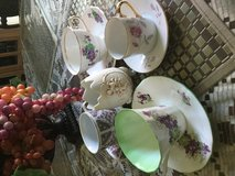 Variety of cup and saucers in Camp Pendleton, California