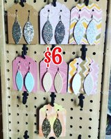 faux leather earrings in Alamogordo, New Mexico