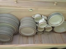 12 big plates, 11cups, 2 big bowls and 5small, 16 salad plates, 12 saucers in Camp Pendleton, California
