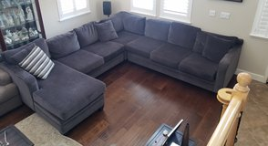 Large 4-Piece Sectional - Dark Gray Chenielle Fabric in Travis AFB, California